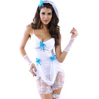Fashion halloween white gauze uniforms Ghost bride costumes