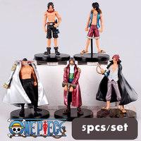 5PCS/SET Free Shipping!Japanese Anime  Edward Newgate Shanks 9CM PVC Action Figure Model Collection Toy Gift