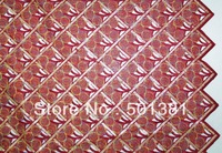2014 African French Lace, Handcut Voile with Sequins, Wholesale, 2624 WINE RED COLOR