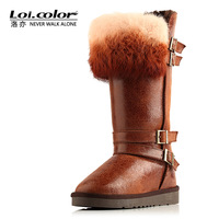Loicolo thermal boots snow boots winter boots high-leg boots female shoes winter cotton boots cotton-padded shoes 5892