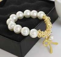 Free Shipping Fashion accessories Woman Charm style pearls glass beads bracelet