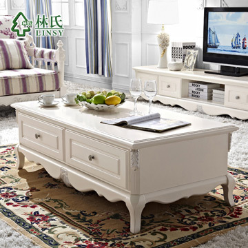 OBARON0001OF00001Lim furniture solid wood carved coffee table with lockers few American Pastoral long coffee table