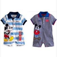 CR026 Free shipping 2014 new arrival baby romper top quality newborn rompers soft cotton baby boys jumpsuit wholesale and retail
