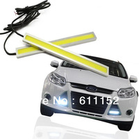 FreeShipping 12W COB DRL Chip New update LED Daytime Running Light 100% Waterproof Fog car lights