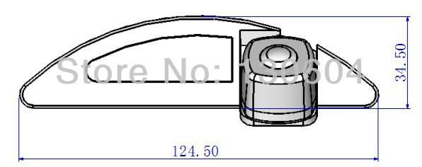 Car Backup Parking Reverse Color Rear View Camera for HONDA CITY Waterproof/ Night vision/ Reversing guard line/ Wide Angle(China (Mainland))