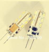 Free shipping  New style Excellent  G4 3W  led lamps SMD3014 360 degree 24led Warm/ White Light led  12V DC  20pcs promotions