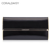 Coraldaisy New 2014 spring women's cowhide wallet long design wallet female cowhide wallet