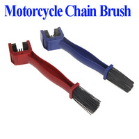 Cycling Motorcycle Bicycle Chain Crankset Brush Cleaner Cleaning Tool Blue / Red 1pc dropshipping wholesales