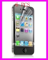 6x LCD SCREEN PROTECTOR GUARD FILM FR APPLE IPHONE 4 4G