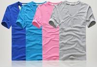 2013 hot free shipping Men clothes t shirt high-elastic cotton men's short sleeve v neck tight shirt male T-shirt