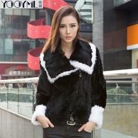 Free shipping 2014 women's rex rabbit hair fur coat overcoat white picao berber fleece fur coat free shipping a1