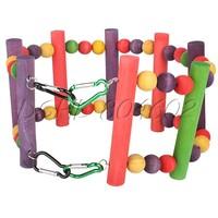 DSHL Flexible Pet Bird Parrot Play Toy Ladder Suspension Bridge Sport Equipment