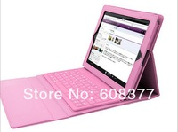 Wireless Bluetooth Silicone Keyboard PU Leather Case with Stand For Apple iPad Air keyboard case for iPad 5 9.7'' free shipping