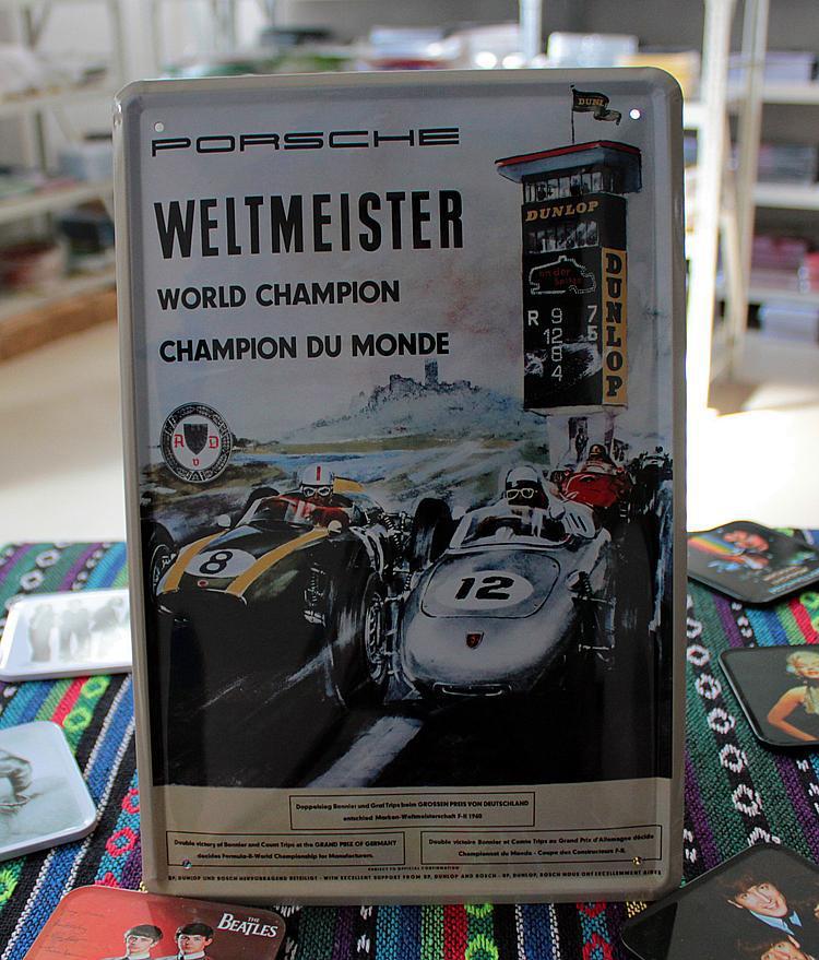 Rode Keuken Machine : Porsche Metal Sign Vintage