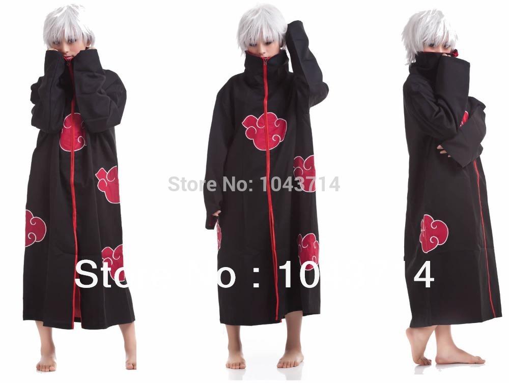 Cos Cosplay naruto Akatsuki Orochimaru uchiha madara Sasuke itachi Pein Clothes Costume cloak cape wind Dust Coat(China (Mainland))