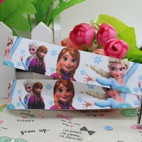 7/8'' Free shipping Frozen printed grosgrain ribbon hairbow diy party decoration wholesale OEM 22mm P2197