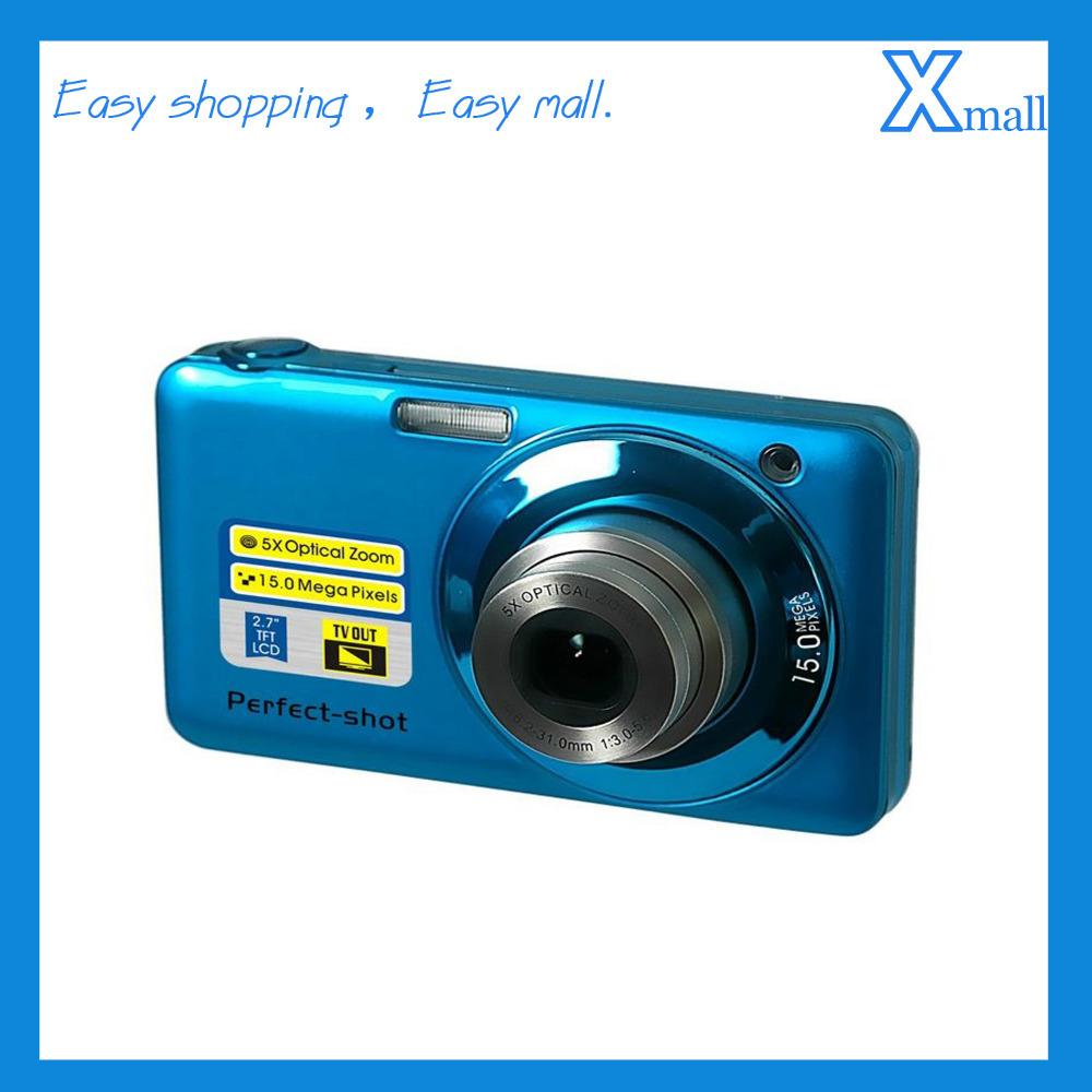 "Free shipping Winait's 15 MP MAX/2.7"" TFT LCD Digital Camera with 5X optical zoom Compact Camera(China (Mainland))"