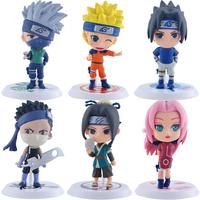 6 PCS Hokage Ninjia Naruto anime figures pvc toys--free shipping