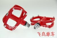 WELLGO R146 aluminum alloy pedals / Road bicycle pedals / bearing foot / bike pedals 320g Red color
