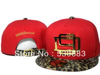 New arrival D9 Reserve Snapback cap red leopard snakeskin Metal logo baseball caps men women hip hop hat!Free shipping!