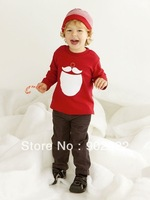 Free Shipping Children Clothing Kids Boy's causal christmas red jacket with causal  pants 2 piece suit