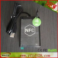 Free Shipping USB  ACR1251U-A1 Smart  NFC RFID Card Reader Writer  With a SAM slot& Support android system + 2PCS M1 Cards+SDK