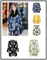 Free Shipping Hot-selling autumn fashion all-match medium-long cardigan  five colors