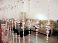 Imitation acrylic crystal bead curtain curtain curtains entranceway anode-screening  princess pink