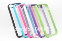 Double Colors Transparent PC + TPU Belkin Case For Apple iPhone 5 5S 10Pcs/Lot Free Shipping