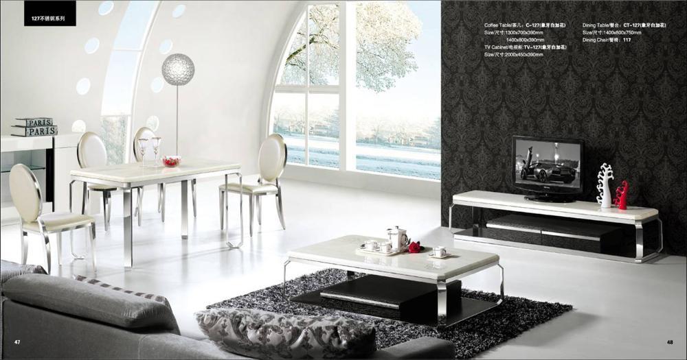 Online kopen Wholesale marmeren salontafel set uit China marmeren salontafel set Groothandel
