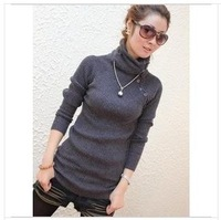 winter warm Turtleneck women sweater long sleeve thick pullovers wool knitted cotton sweater jacket