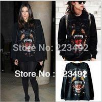 2015 Women/Men Space Print Pullovers Hound Dog's Head Men And Women Couple Long-Sleeved Sweatshirts 3d  Hoodies Top
