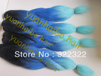 stock! factory cheap price synthetic braid ombre kanekalon jumbo braiding hair free shipping