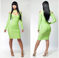 2014 Foreign trade hot  bandage sex dress elegant  European and American hollow dress  party essential  for women