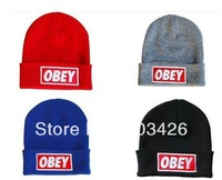 Wholesale 200pcs/lot !Popular Knitting OBEY Beanie Hat Winter knitted Caps For Hip Hop Skullies & Beanies G3125  Free Shipping