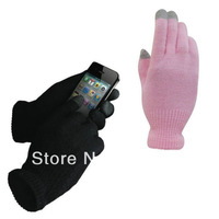 1 Pair Unisex Winter Warm Capacitive Touch Screen Knit Gloves Hand Warmer for Phone Smart Phone One Size