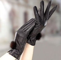 P66 10paris/lot Top Fashion New Lady Girls Sexy PU Leather Five Fingers Glove Leopard Gloves