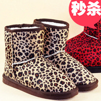 Free Shipping Fashion !! 2013 leopard print boots snow boots thickening snow boots thermal boots