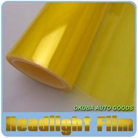 Wholesales 8 Rolls Per Lot Size: 30cm*10m/roll Auto Car Sticker Smoke Fog Light Yellow HeadLight Taillight Tint Vinyl Film