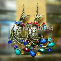 fashion women earrings hot selling jewelry accessories bohemia national trend peacock summer popular earrings