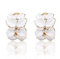 Design 2013 New Arrival Hot sale (Min order $10)  statement flower Earrings for women lady earring Factory Price