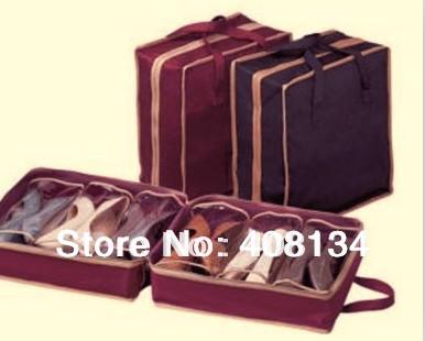 Free Shipping Travel Waterproof Ventilation Folding Shoes Storage organizer Portable fashion Closet women/men shoe bags 35*20*40(China (Mainland))