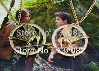 Christmas gift Vintage Bronze pendant Meta Movie jewelry The hunger games bird chain chocker necklace E3310-cinnamon