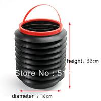 Free Shipping Car umbrella bucket retractable glove box folding ragbag vehienlar contraction storage bucket