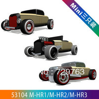 Each Set Of 3 Pcs Automoblox Wooden Assembled Car Classic Cars Toys Combination 53104