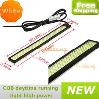 A pair of LED DRL car Lamp White 12V led Driving light COB Daytime Running Light very Bright high power free shipping