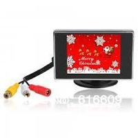 "3.5"" TFT Color Car LCD Monitor for Car Rear-view System Black  --- discount sale"