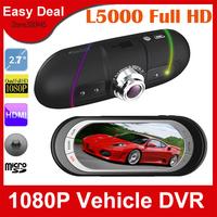 L5000 Full HD 1080P Car DVR Camera With 2.7 LCD Screen G-Sensor 120 Degree Wide Angle Vehicle Black Box Free Shipping