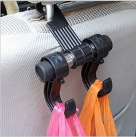 Car hook multi purpose car chair back hook car hook auto supplies double slider