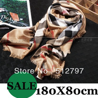 Classic plaid scarf  high quality women's cashmere  scarves,brand scarf,180X80cm